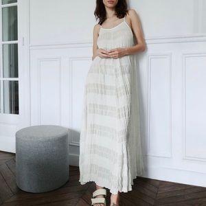 Zara long textured dress